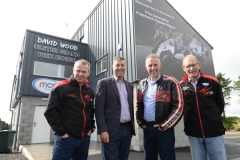 MPs for North and South Antrim, Ian Paisley and Paul Girvan, have visited Dundrod, home of the MCE Ulster Grand Prix to review the significant improvements that have been made to the paddock and circuit over the past few months.  L-R: Geoff Wilson, MCE UGP Brand Consultant, Paul Girvan MP, Ian Paisley MP and Ken Stewart, Secretary of the Dundrod & District Motorcycle Club