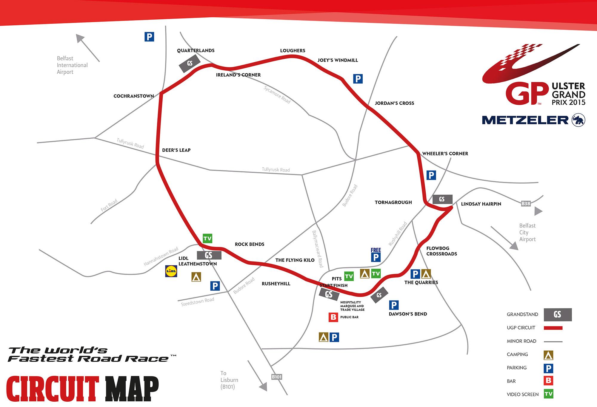[Road Racing] Ulster GP 2015 Cicruitmap2015