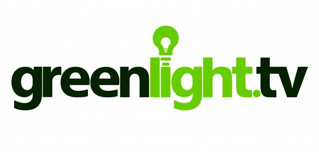 GREENLIGHT.TV logo for white