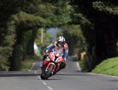Michael Dunlop in action at the 2014 Metzeler Ulster Grand Prix.