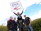 PACEMAKER, BELFAST, 23/5/2016: Ulster Grand Prix stakes claim for success with new headline sponsor; MCE Insurance to cover the World's Fastest Road Race. Top road racers Maria Costello and Peter Hickman join MCE Insurance's Big Ed and Ken Stewart and Noel Johnston of the Dundrod and District Motorcycle Club to announce the title sponsorship of the Northern Ireland race at the insurance giant's base in Northampton.  PICTURE BY STEPHEN DAVISON